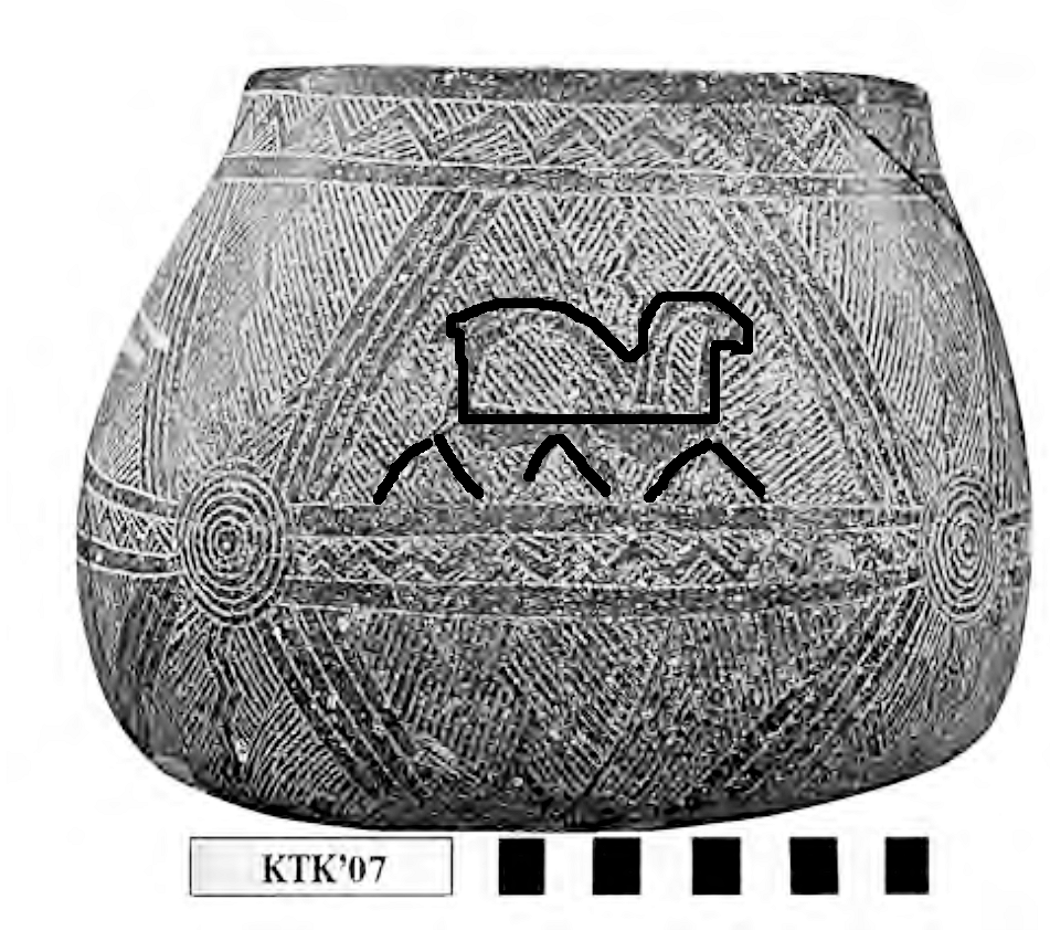 11,600 yr old pottery showing Great Sphinx and Giza Pyramids